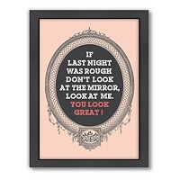 Americanflat Patricia Pino ''Last Night'' Framed Wall Art