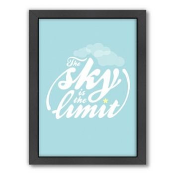 Americanflat Patricia Pino ''The Sky Is The Limit'' Framed Wall Art
