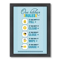 Americanflat Patricia Pino ''Kitchen Rules'' Framed Wall Art