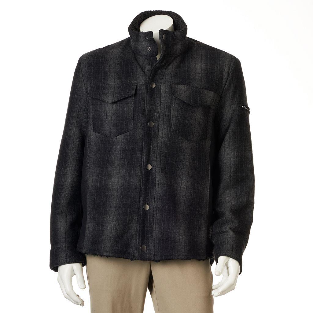 Men's Excelled Plaid Wool-Blend Shirt Jacket