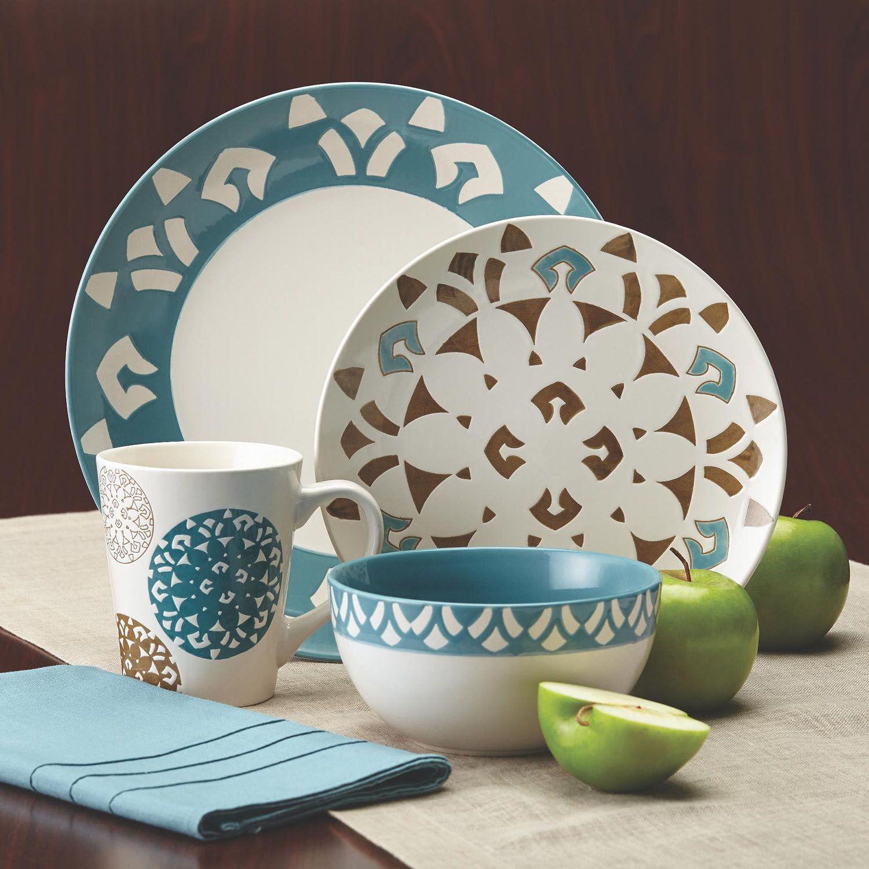 Rachael Ray Pendulum 16-pc. Dinnerware Set & Rachael Ray Dinnerware \u0026 Serveware Kitchen \u0026 Dining | Kohl\u0027s