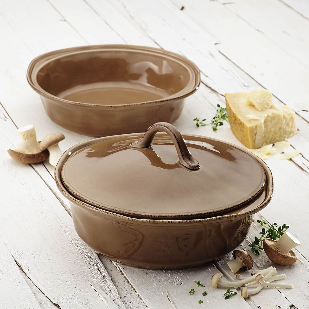 Rachael Ray Cucina 3-pc. Round Baker and Lid Set