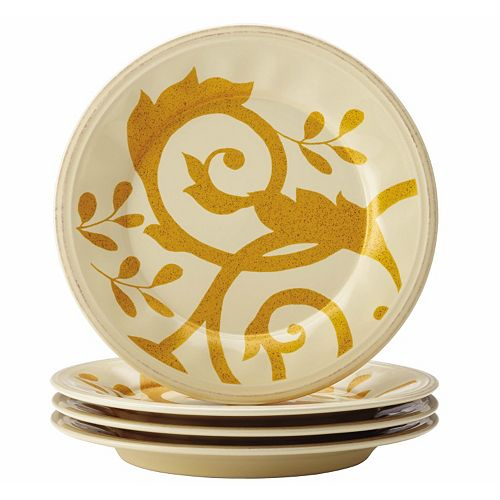 Rachael Ray Gold Scroll 4-pc. Salad Plate Set