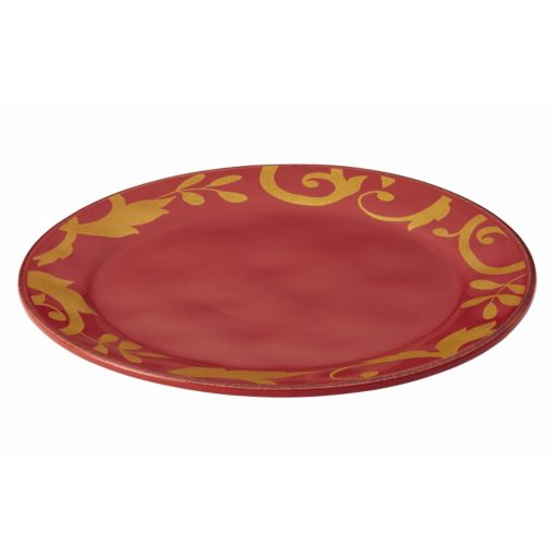 Rachael Ray Gold Scroll 12 1/2-in. Round Serving Platter