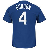 Men's Majestic Kansas City Royals Alex Gordon Player Name and Number Tee