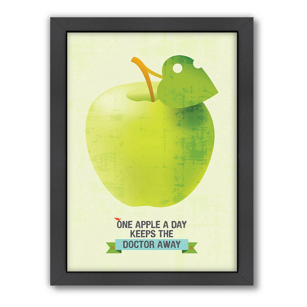 Americanflat Patricia Pino ''One Apple'' Framed Wall Art