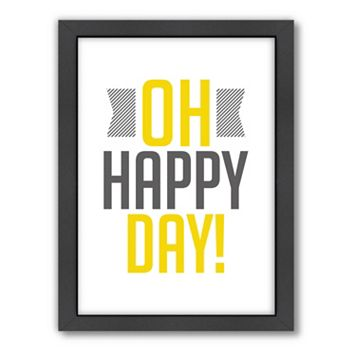 Americanflat Patricia Pino ''Oh Happy Day'' Framed Wall Art