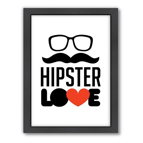 Americanflat Patricia Pino ''Hipster Love'' Framed Wall Art