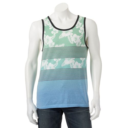 aba43fb6501a80 Hang Ten Floral Ombre Tank Top - Men