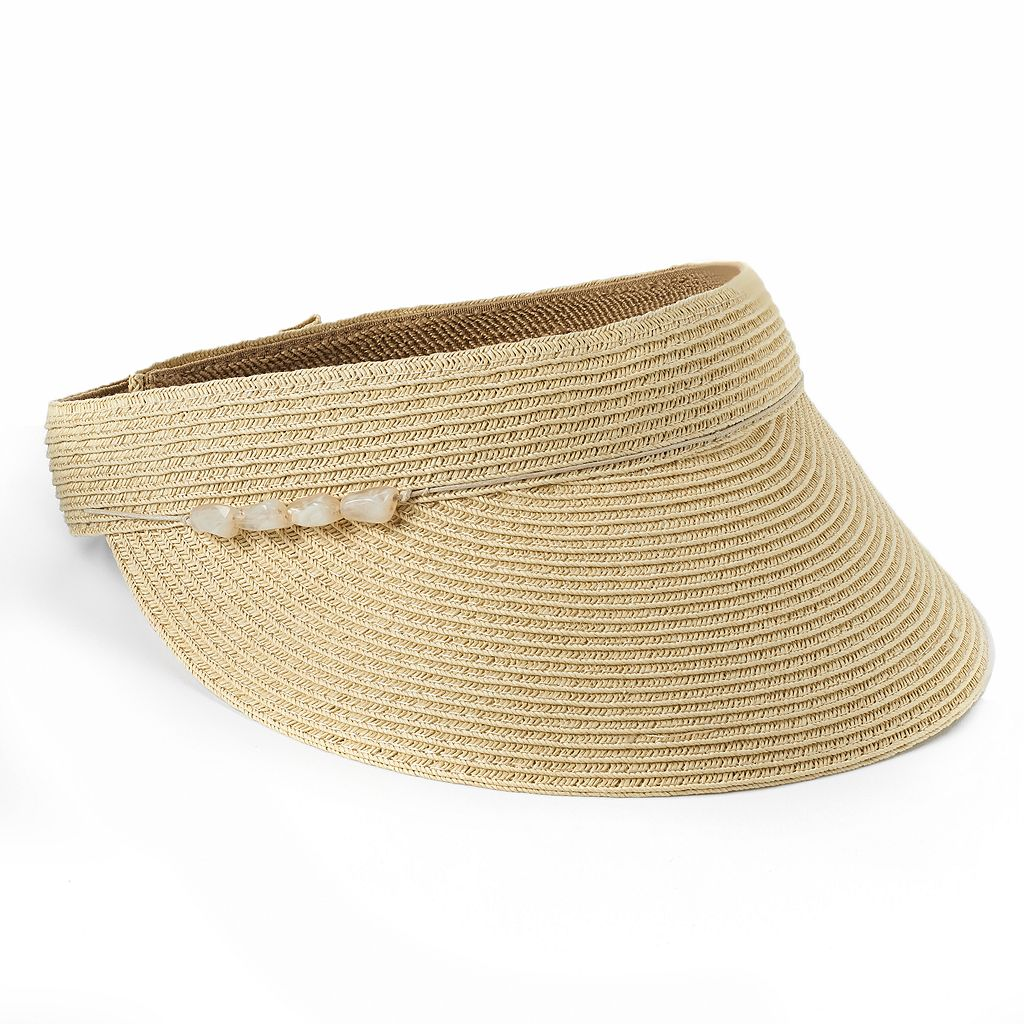 Croft & Barrow® Packable Beaded Visor