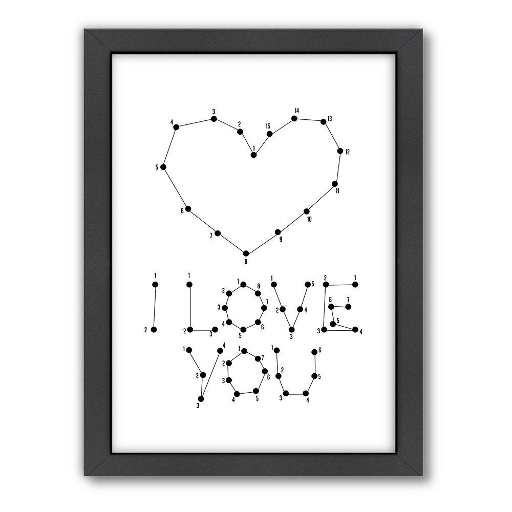 Americanflat Patricia Pino ''Love Dots 2'' Framed Wall Art