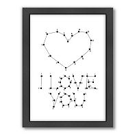 Americanflat Patricia Pino ''Love Dots 2'' Framed Wall Art