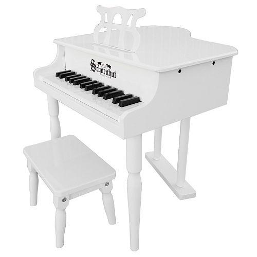 Schoenhut 30-Key Classic White Baby Grand Toy Piano
