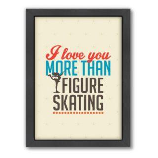 Americanflat Patricia Pino ''Love Figure Skating'' Framed Wall Art