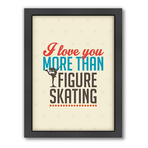 Americanflat Patricia Pino ''Love Figure Skating'' Framed Wall Art