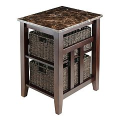 Winsome Zoey Storage Side Table