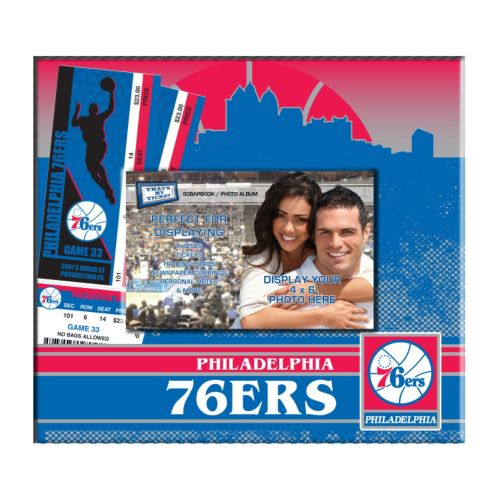Philadelphia 76ers 8 x 8 Ticket & Photo Album Scrapbook