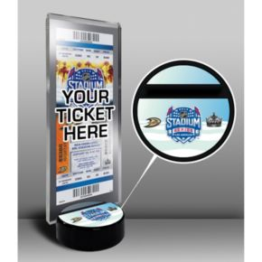 2014 NHL Stadium Series Desktop Ticket Display Stand - Anaheim Ducks vs. Los Angeles Kings