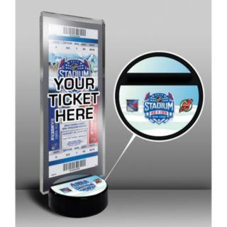 2014 NHL Stadium Series Desktop Ticket Display Stand - New Jersey Devils vs. New York Rangers