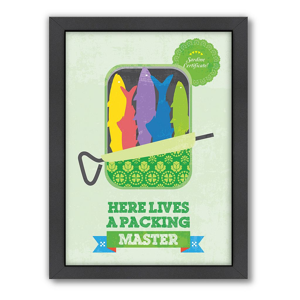 Americanflat Patricia Pino ''Packing Master'' Framed Wall Art