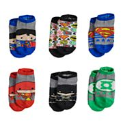 Justice League 6 pkLow-Cut Socks - Toddler