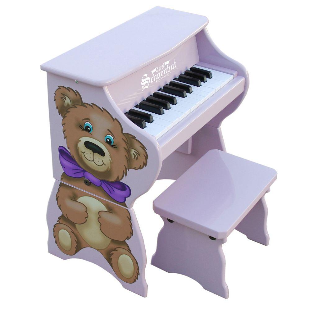 Schoenhut 25-Key Teddy Bear Toy Piano with Bench