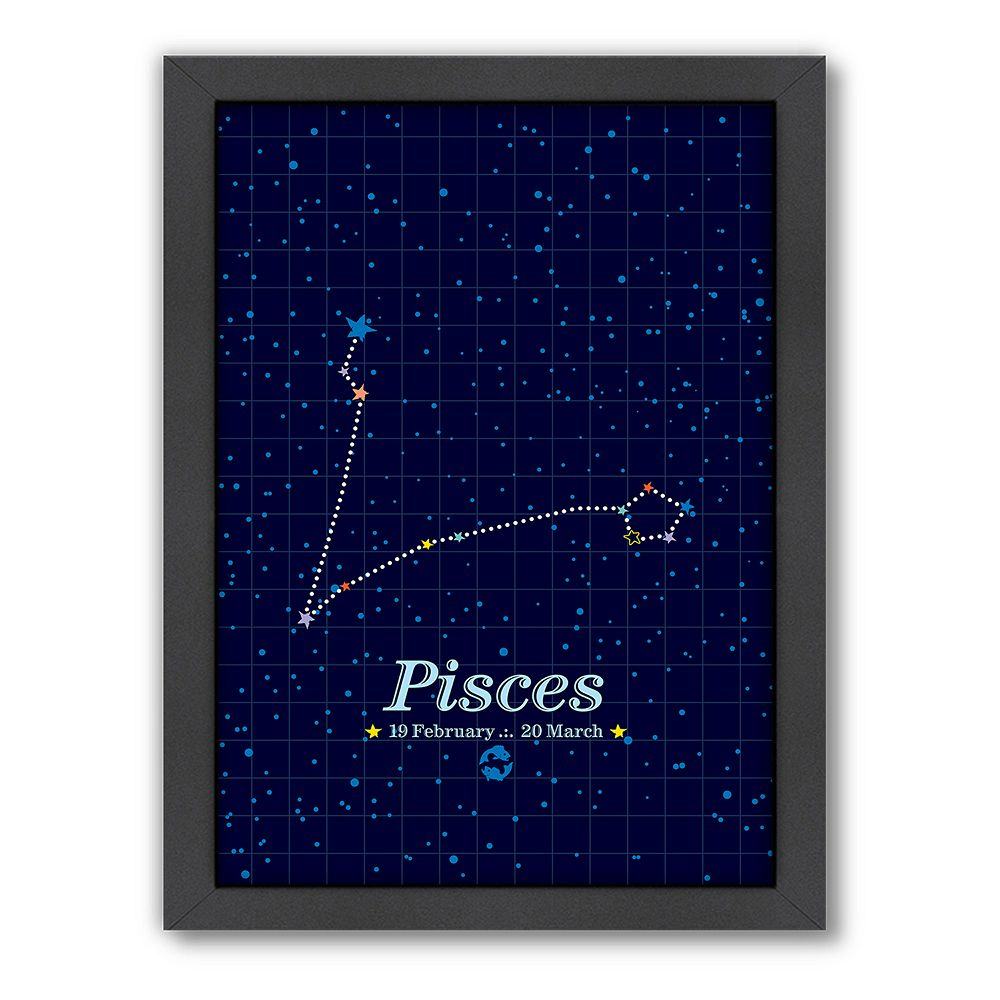 Americanflat Patricia Pino ''Pisces'' Framed Wall Art