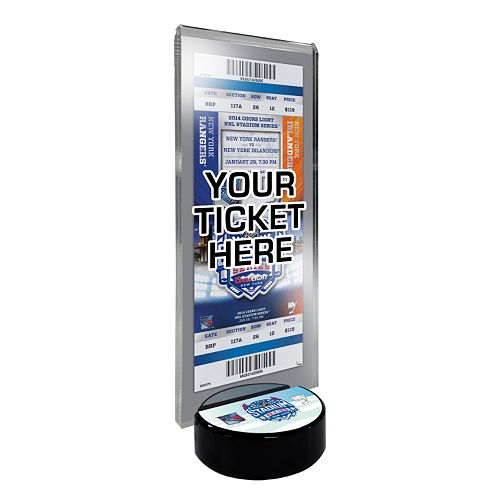 2014 NHL Stadium Series Desktop Ticket Display Stand - New York Islanders vs. New York Rangers
