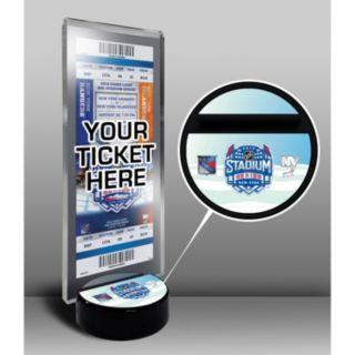 2014 NHL Stadium Series Desktop Ticket Display Stand - New York Islanders vs. New York Rangers