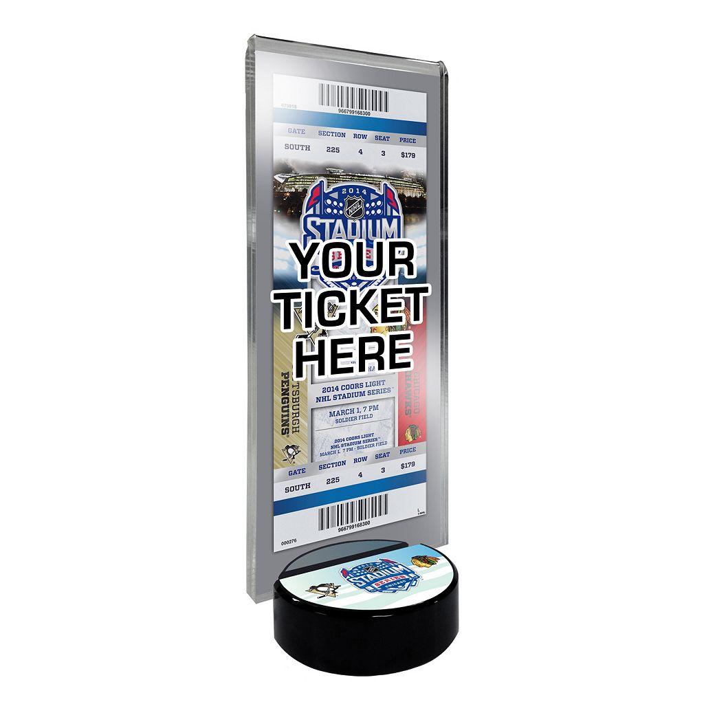 2014 NHL Stadium Series Desktop Ticket Display Stand - Chicago Blackhawks vs. Pittsburgh Panguins