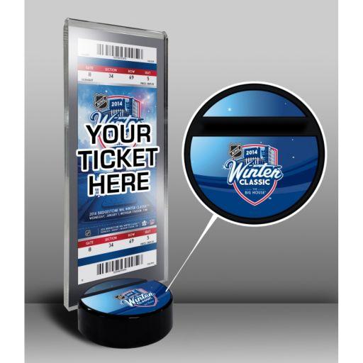 2014 NHL Stadium Series Desktop Ticket Display Stand - Detroit Red Wings vs. Toronto Maple Leafs