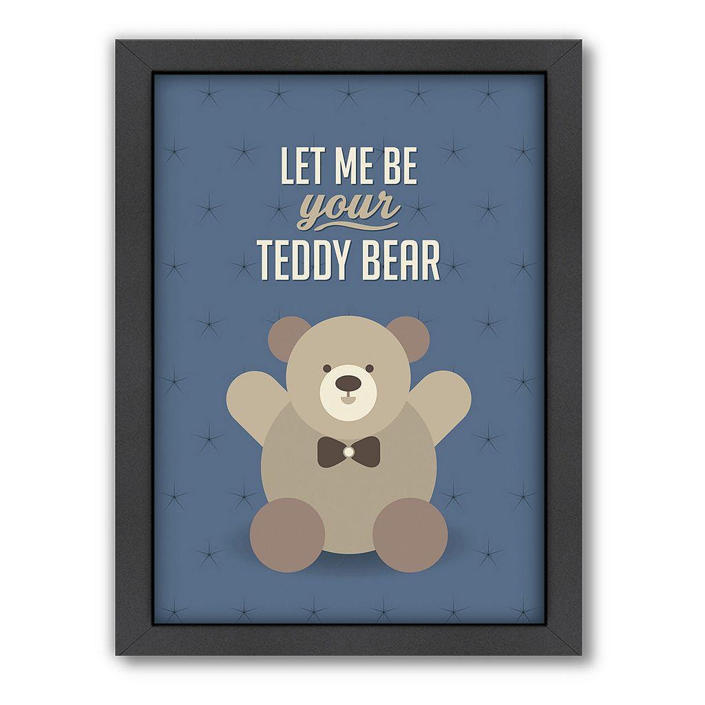 Americanflat Patricia Pino ''Teddy Bear'' Framed Wall Art