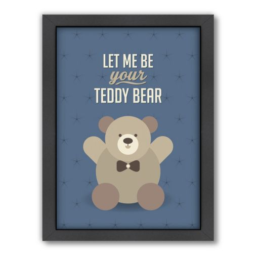 Americanflat Patricia Pino ''Teddy Bear'' Framed Wall Art