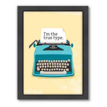 Americanflat Patricia Pino ''Typewriter'' Framed Wall Art