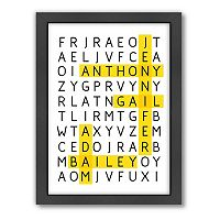 Americanflat Patricia Pino ''Word Puzzle'' Framed Wall Art