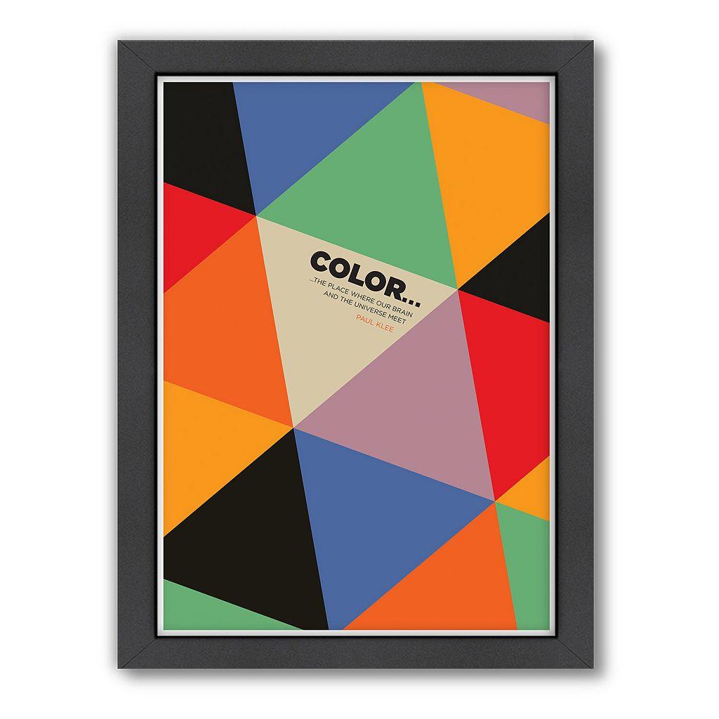 Americanflat Visual Philosophy ''Color Paul Klee'' Framed Wall Art