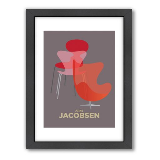 Americanflat Visual Philosophy ''Arne Jacobsen'' Framed Wall Art