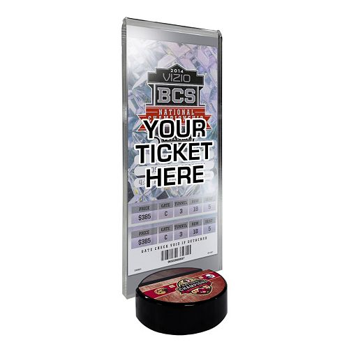 Florida State Seminoles 2013 BCS National Champions Desktop Ticket Display Stand