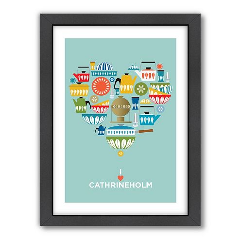 Americanflat Visual Philosophy ''I Heart Cathrineholm'' Framed Wall Art