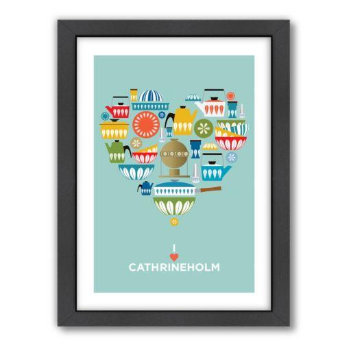 Americanflat Visual Philosophy ''I Heart Cathrineholm'' Framed Wall Art