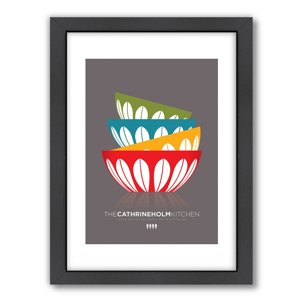 Americanflat Visual Philosophy ''Catherine Holm Bowls'' Framed Wall Art