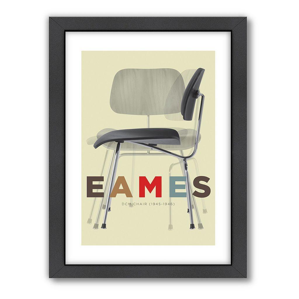 Americanflat Visual Philosophy ''Eames DCM Chair'' Framed Wall Art