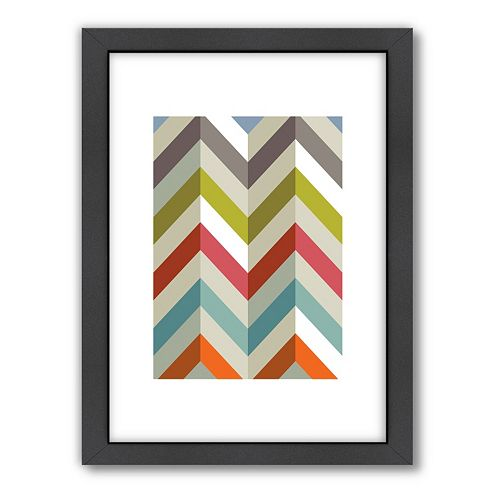 Americanflat Visual Philosophy ''Chevron'' Framed Wall Art