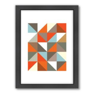 Americanflat Visual Philosophy ''Harlequin 3'' Geometric Framed Wall Art