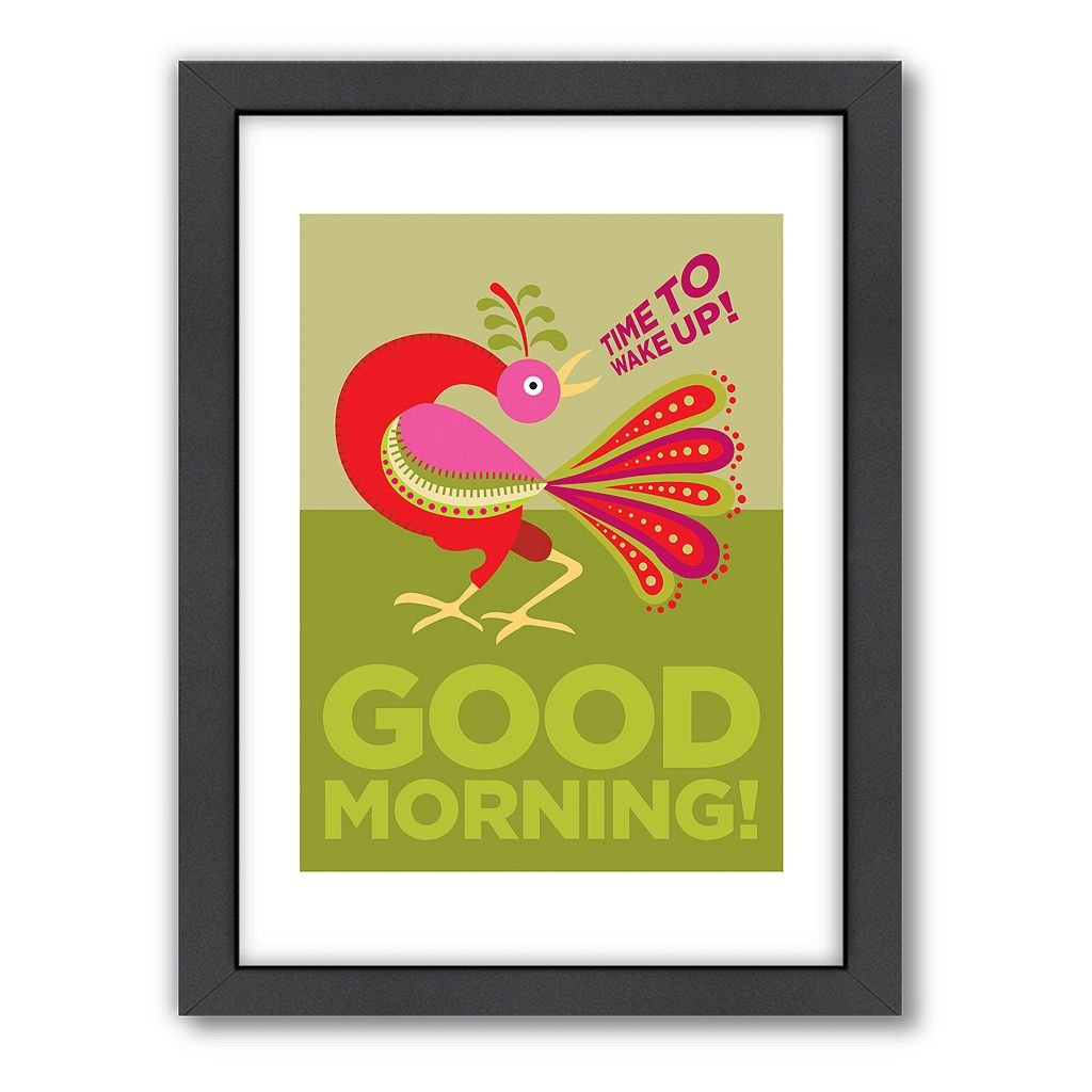 Americanflat Visual Philosophy ''Good Morning Cockerel'' Framed Wall Art