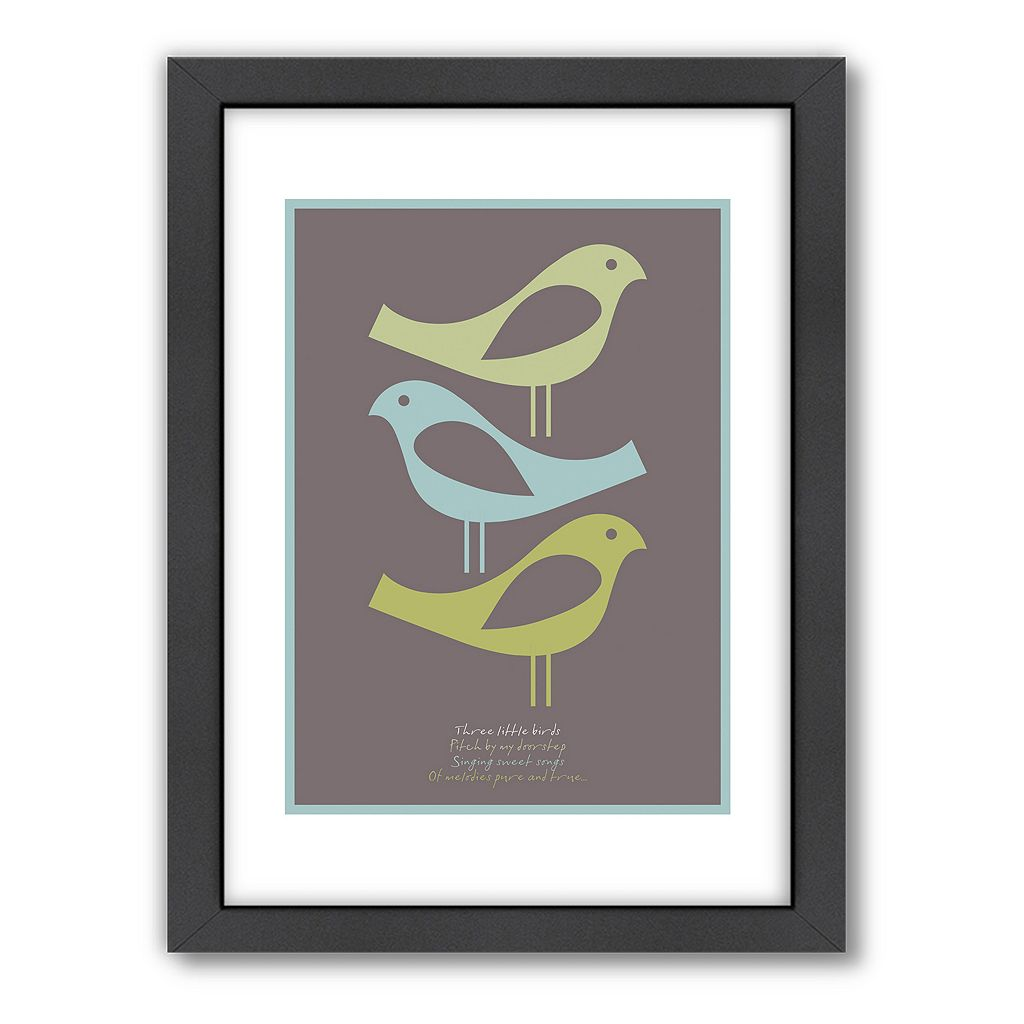 Americanflat Visual Philosophy ''Three Little Birds'' Framed Wall Art