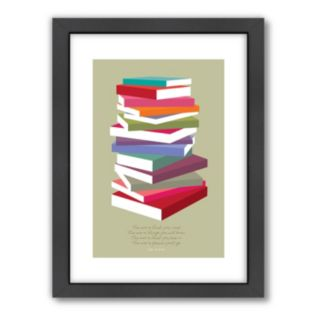 Americanflat Visual Philosophy ''Dr. Seuss Books Pile'' Framed Wall Art