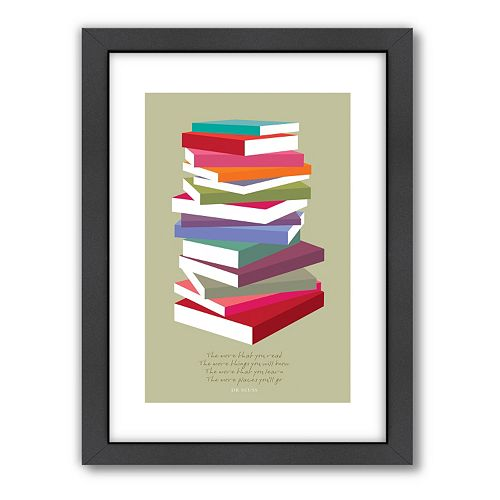 Americanflat Visual Philosophy ''Dr. Seuss Books Pile'' Framed Wall Art
