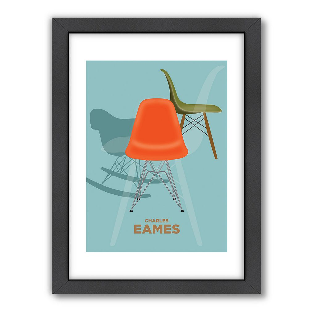 Americanflat Visual Philosophy ''Charles Eames 2'' Framed Wall Art