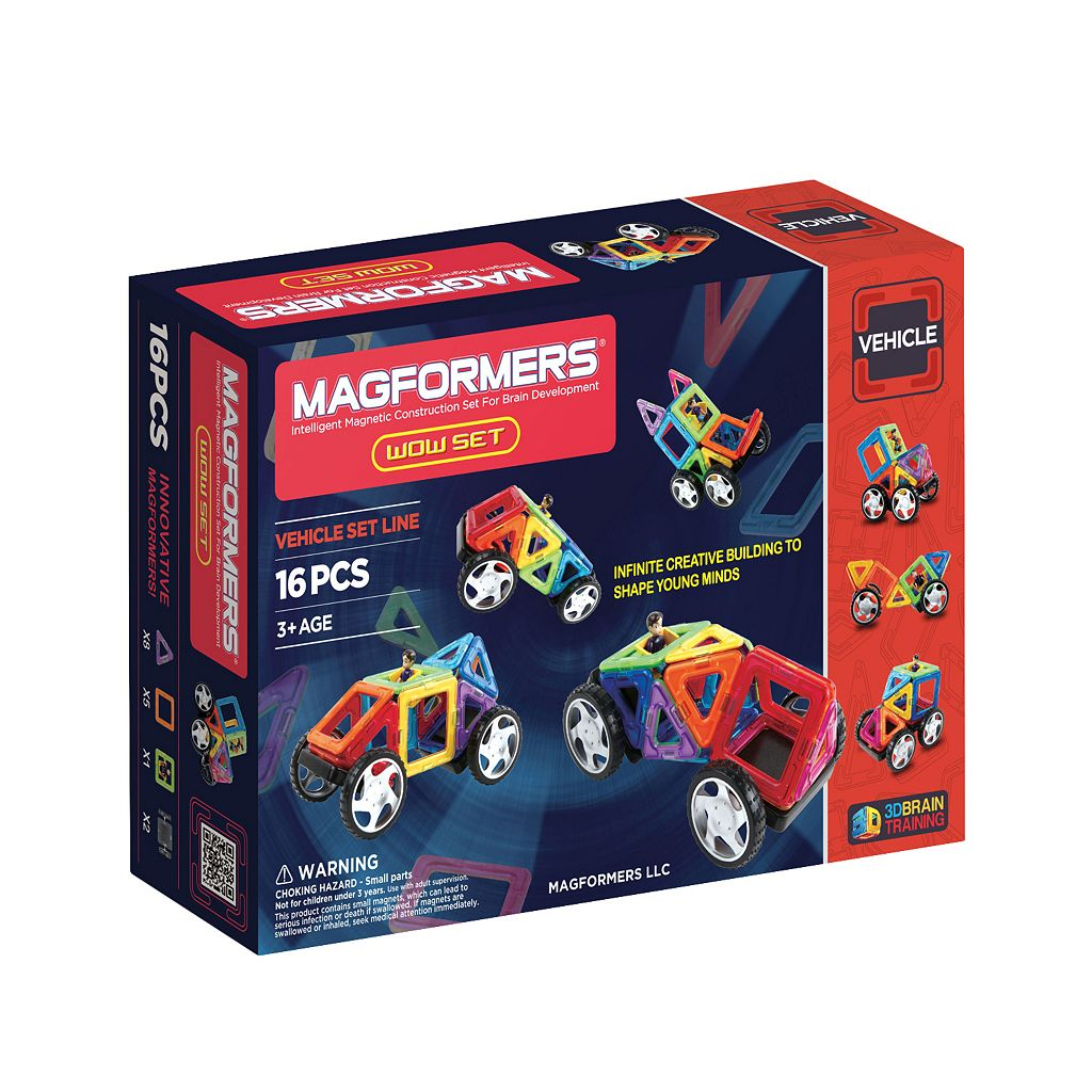 Magformers 16-pc. Wow Vehicle Set